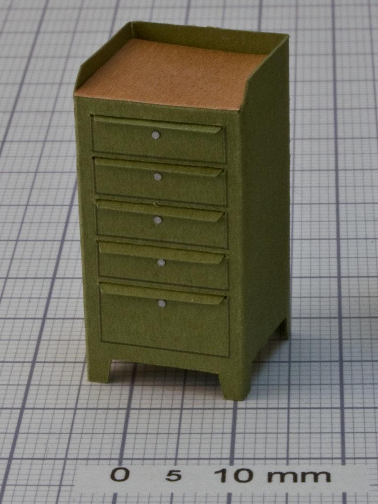 werkstattschrank gr n mit 5 schubladen und ablage manufaktur ft. Black Bedroom Furniture Sets. Home Design Ideas